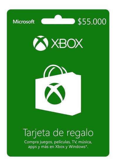 Xbox Live Prepago $55.000 Código Digital