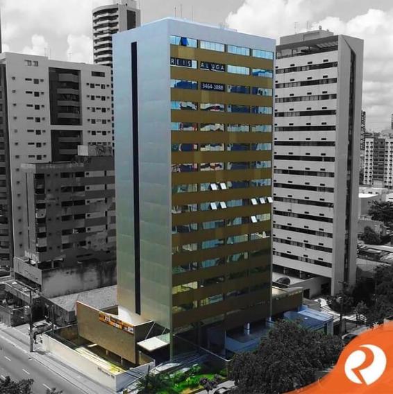 Sala Para Alugar, 40 M² Por R$ 1.600/mês - Boa Viagem - Recife/pe - Sa0804