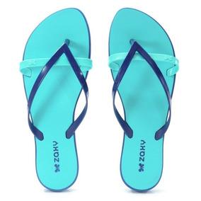 Chinelo Zaxy Flit Azul Marinho Azul - 17246