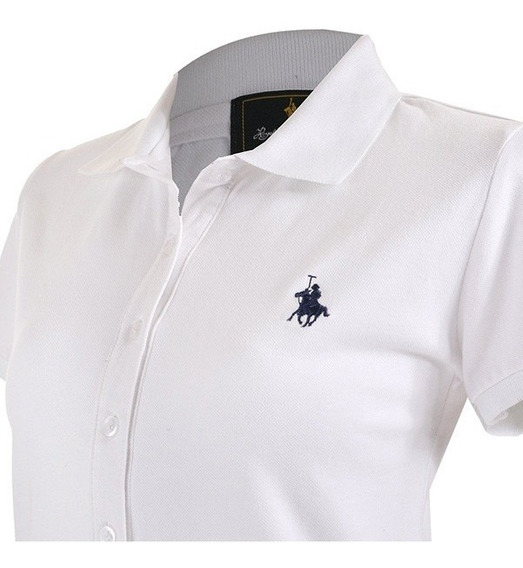 Playera Polo Club, Tipo Polo Para Dama