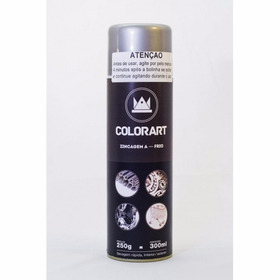 Tinta Spray Zincagem A Frio Colorart 300ml - Evita Corrosão