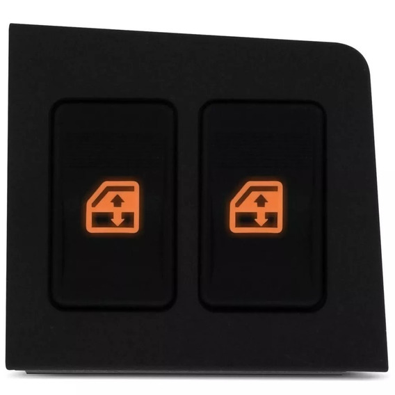 Botão Interruptor Vidro Eletrico Fiat Uno Duplo Ambar