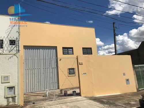 Barracão Para Alugar, 221 M² Por R$ 3.000,01/mês - Parque Via Norte - Campinas/sp - Ba0247