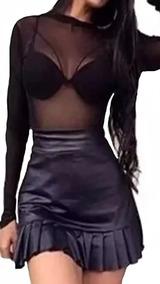 Body Feminino Tule Transparente Preto Bruna Marquezin 2019