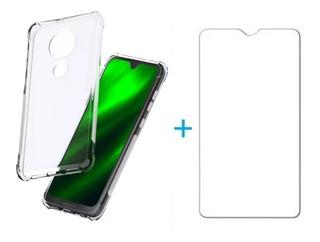 Capinha Anti Impacto + Pelicula De Gel Motorola Moto G7 Play