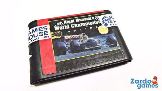 Nigel Mansell World Championship - Mega Drive - Funcionando