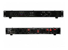 Amplificador Slim Potência Audio Leader 1000 Watts Rms Top!!