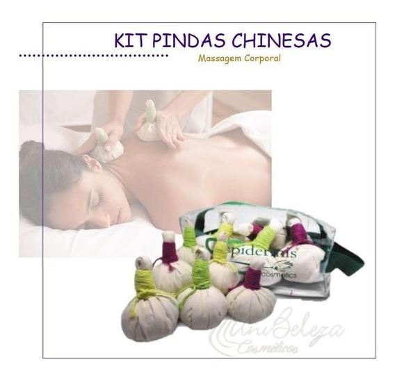 Kit Pindas Chinesas Para Massagem Corporal Epidermis 06un