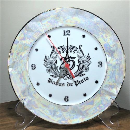 Imagem 1 de 5 de Relógio Relevo Bodas De Prata 25 Anos De Casamento 27cm