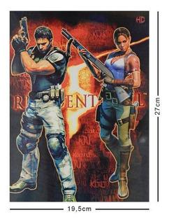 Resident Evil Cromo Poster Tamaño Carta 5 Africa Personajes