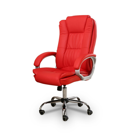 Cadeira Presidente Giratória Vermelha C/braços - By-8-661-1
