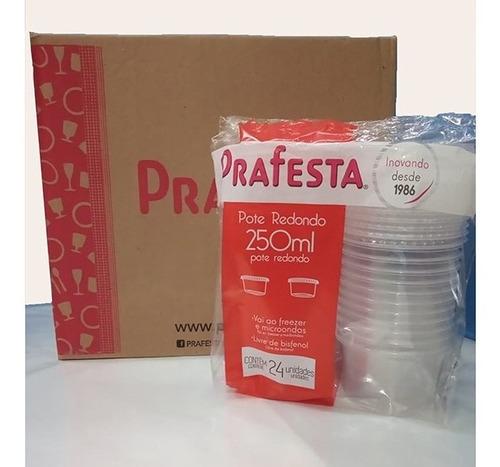 Pote Plastico Marmita Red 250ml 432 Und Microondas Freezer