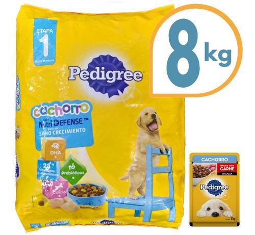 Comida Pedigree Perro Cachorro Sano Crecimiento 8 Kg + Envío