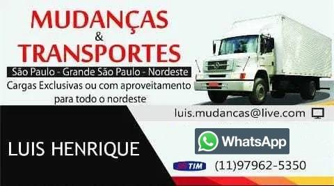 Mudanças / Transportes / São Paulo / Nordeste / Todo Brasil