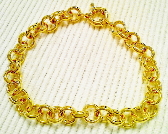 Pulsera Oro Gold Filled 14k Mujer Rolo Mediana Vanesa Duran 20cm
