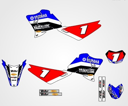 Kit Grafico Para Plotagem Moto Cross Corel 150 Modelos 1und