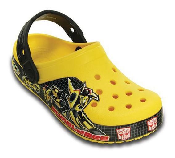 Crocs Infantil Menino Transformes Bumblebee Amarelo