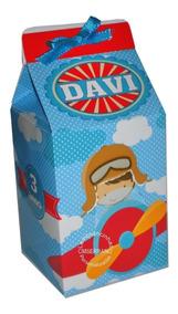 Kit 20 Caixinha Milk + Cone Personalizados Embalagem E Fita