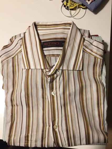 Camisas Diseñador Etro Y Burberry T-l Original Casinuevas