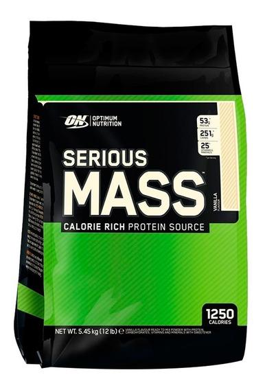 Optimum Nutrition Serious Mass X 12 Lb - Ganador De Masa