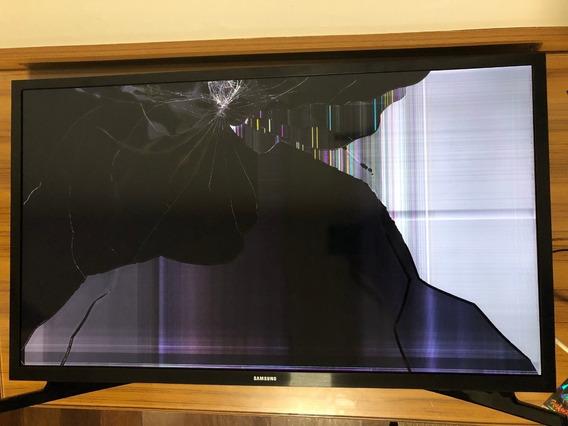Smart Tv Samung 32j4290 Tela Quebrada. Vendo As Pecas Ou Tod