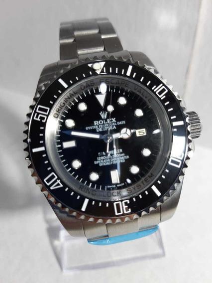 Reloj Deepsea Negro Con Plata , Envío Inmediato