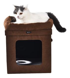 Casita Cubo Recreativa, Escondite Y Descanso Para Gatos.
