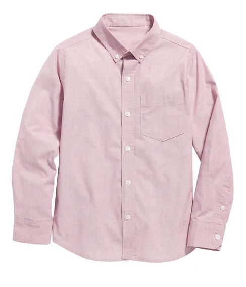 Camisa Niño Manga Larga Clásica Flex Bolsillo Old Navy