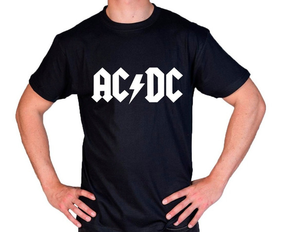 Camiseta Estampada Ac/dc Rock