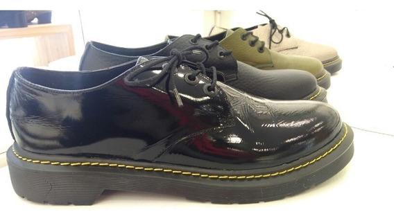 Zapatos Acordonados Creepers Mocasines Mujer Cuero Ultimos!!