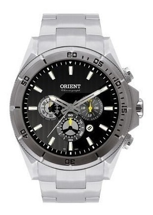 Relógio Orient Masculino Prata Multfunção,cronógrafo P