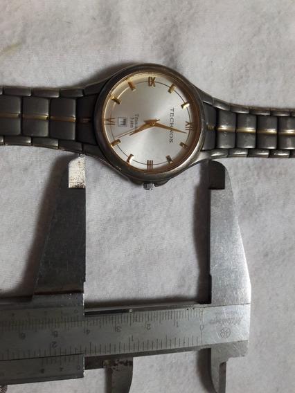 Relógio Antigo Technos Titanium No Estado Leia Descrição