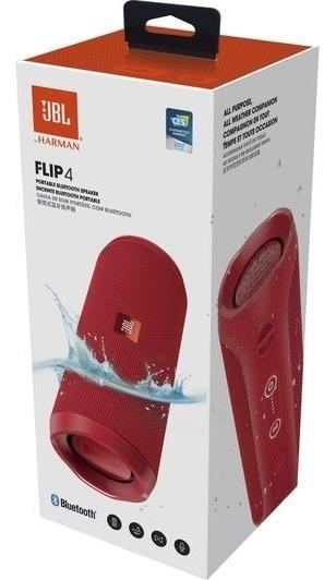 Caixa De Som Bluetooth Mod : Flip 4 Vermelha - Jbl