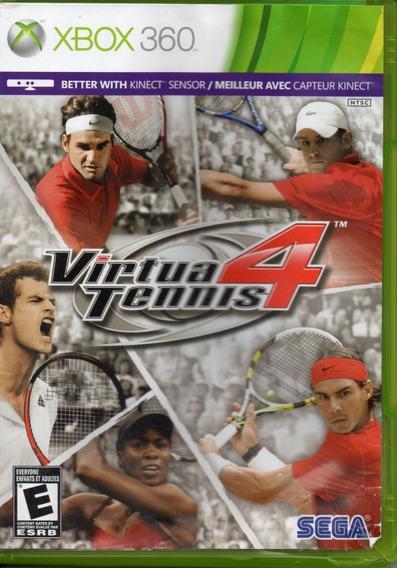 Virtua Tennis 4 Xbox 360 Original Mídia Física Novo