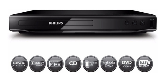 Reproductor De Dvd Philips Dvp2850x/77 Divx Usb 2.0
