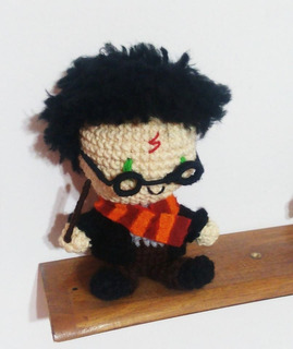 Amigurui Harry Potter Muñeco Peluche Al Crochet