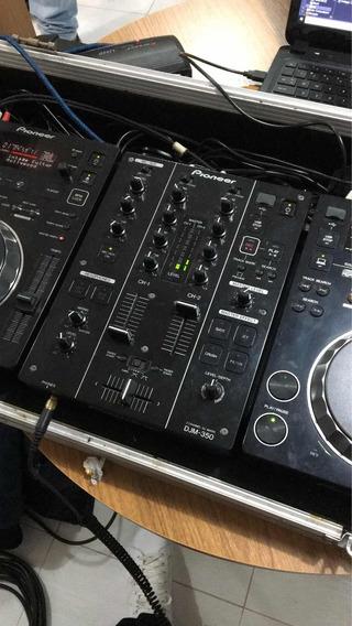 Kit Pionner Cdj350 + Djm 350 + Case Cdj