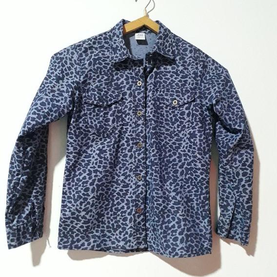Camisa Jean Animal Print T 12