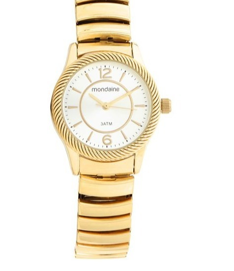 Relógio Pulso Mondaine Feminino Dourado