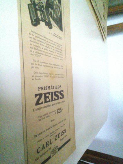 Antigua Publicidad Prismaticos Carl Zeiss - Fotografía 1920s
