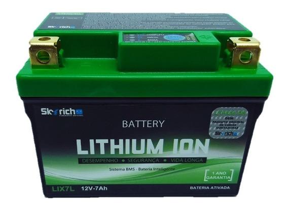 Bateria Moto Lithium Ion Falcon Twister Fazer 7ah Skyrich