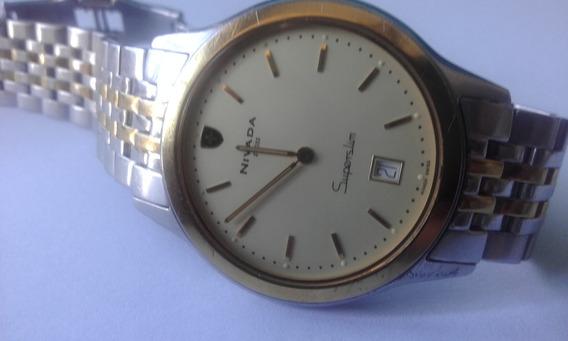 Reloj Nivada Gc2379g 100% Original Dial Amarillo Redondo
