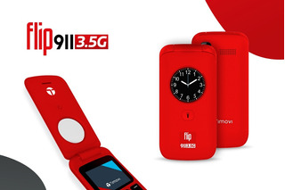 20 Pzas Celular Flip 911 3.5g Tecla Emergencia