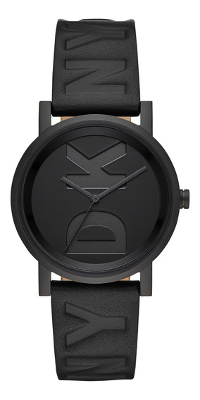Reloj Unisex Dkny Ny2783 Color Negro De Piel