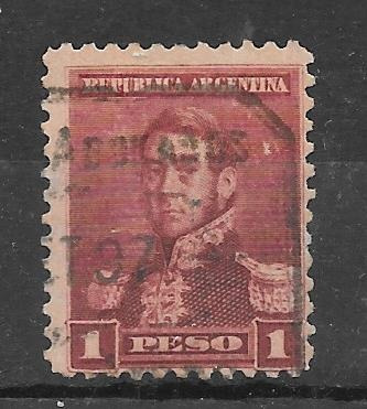 Argentina 1896 Tres Proceres Sol Grande $1 D 11 Gj186 Usd 3