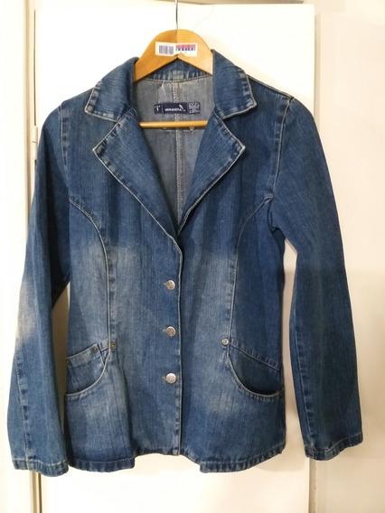 Saco Blazer Jeans Mujer Inquieta Impecable