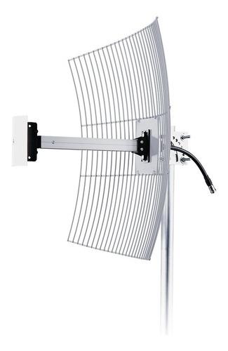 Antena Rural Celular Aquário 4g 20 Dbi Cf-2620 + Cabo 10 Mts