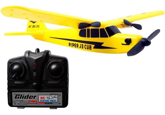 Avion Control Remoto Rc Facil De Usar Alcance 80m Pipper J3