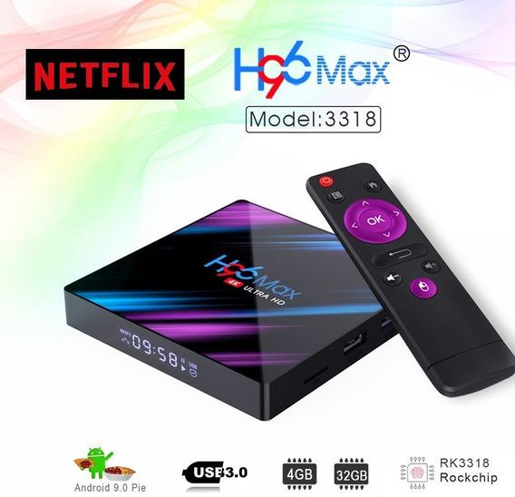 Smart Tv Box H96max Android 9.0/ 4gb/ 32gb/fhd/ Netflix