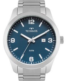 Relógio Technos Masculino Barato Prata Original 2115mpk/1a